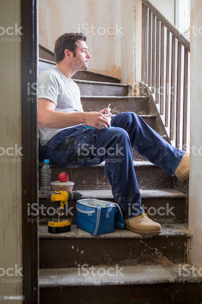Builder auf Mittagspause – Foto