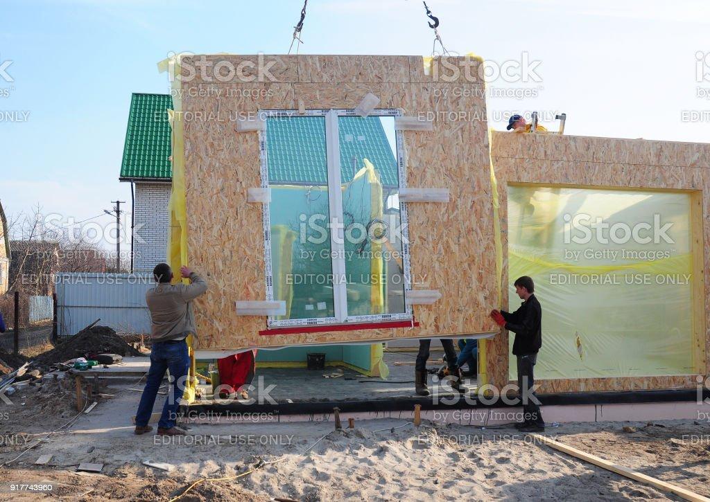 Constructores Construcción De Nueva Casa De Marco Instalación Casa ...