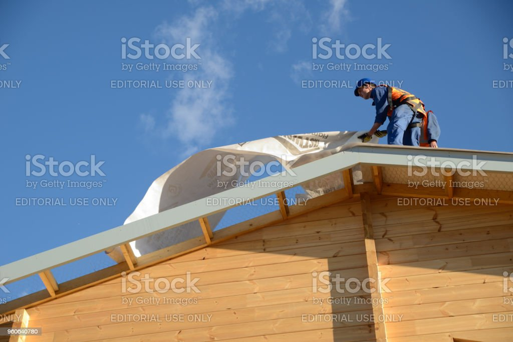builders on top stock photo