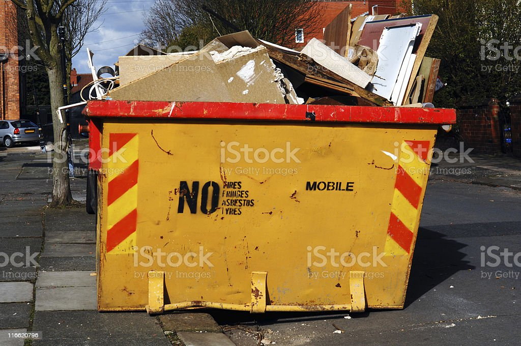 Builders Skip royalty-free stock photo