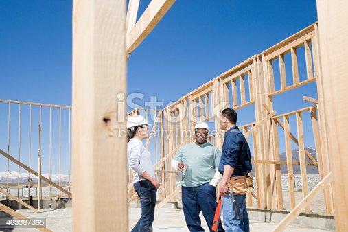 istock Builders taking a break 463387365
