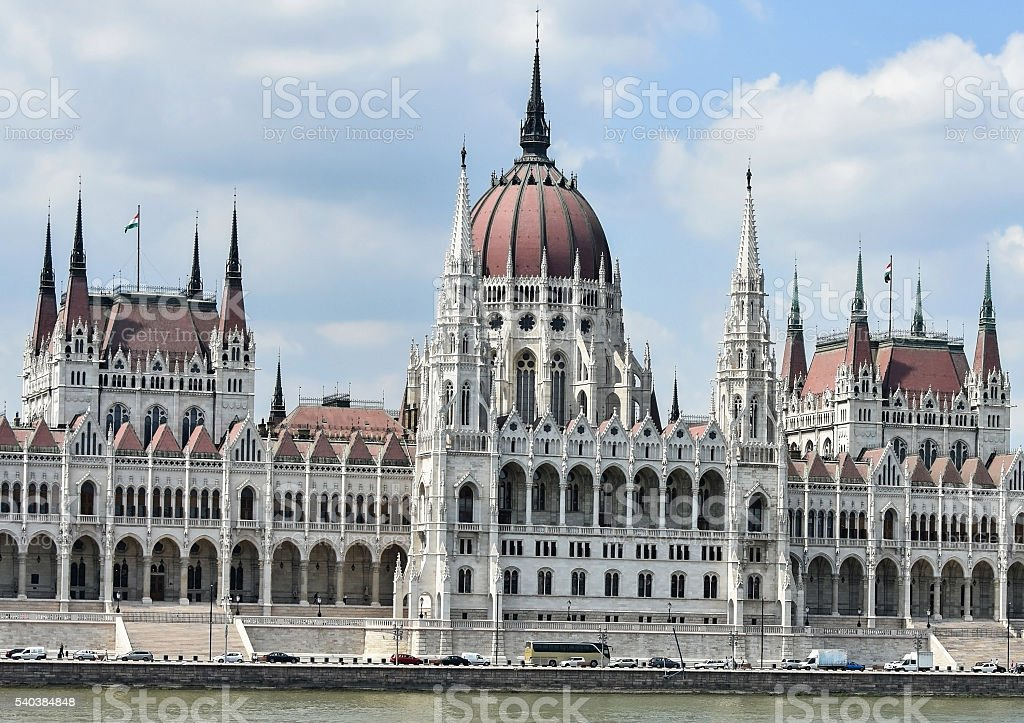 Buildign of the Hungarian Parliament stock photo