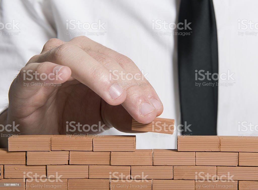 Building a company royalty-free stock photo