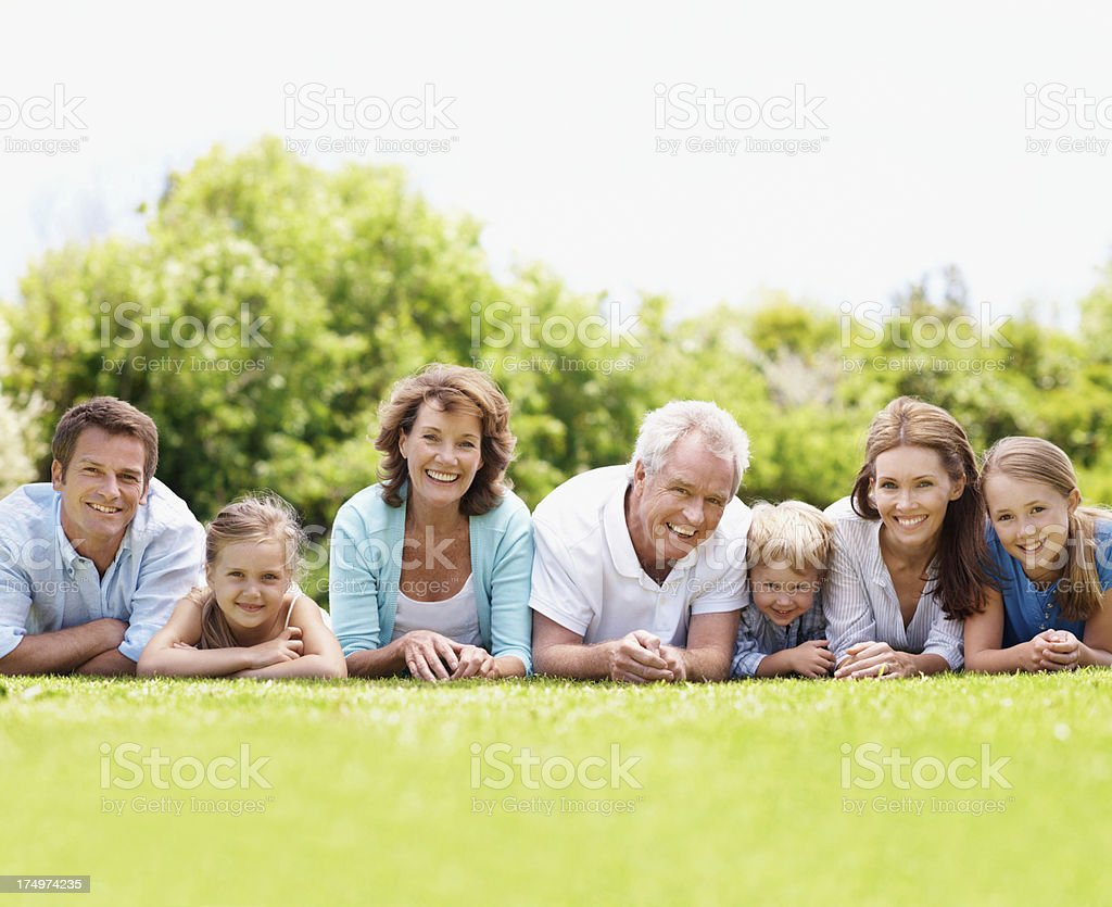 Building a family bond that spans the years. royalty-free stock photo