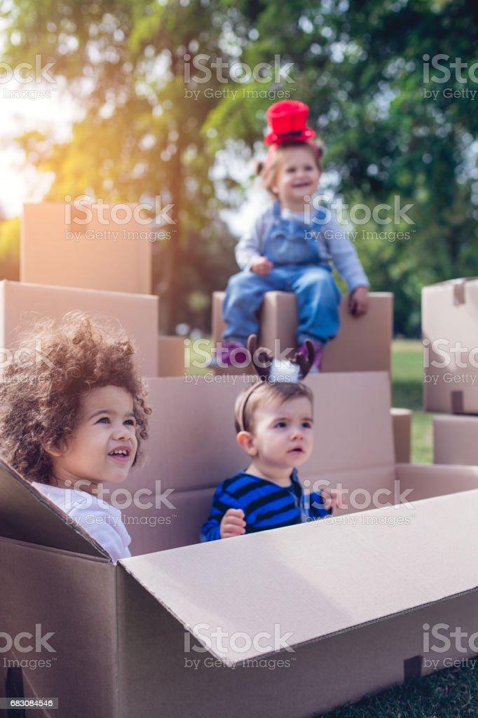 Building a fort foto de stock royalty-free