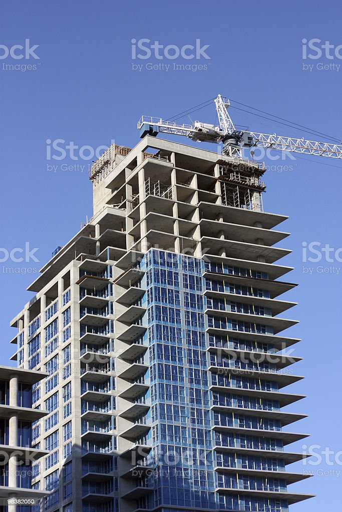 Building a High-rise royalty-free stock photo