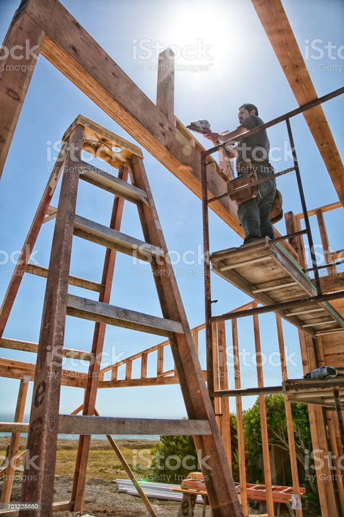 Building a house stock photo
