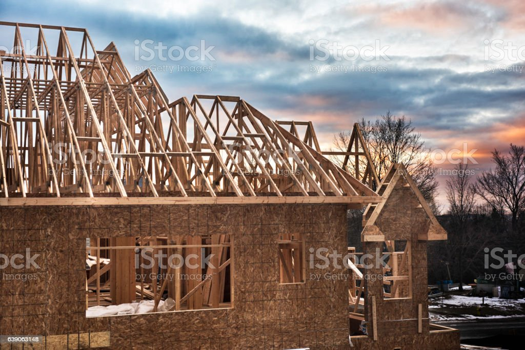 Building a New House stock photo