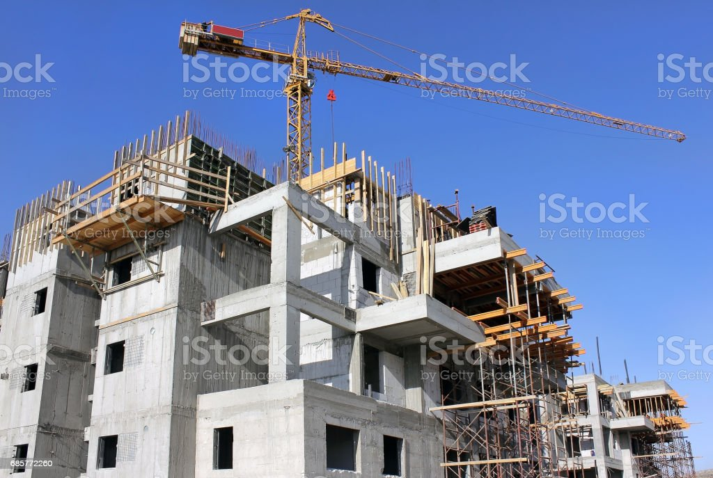 building a new house royalty-free stock photo