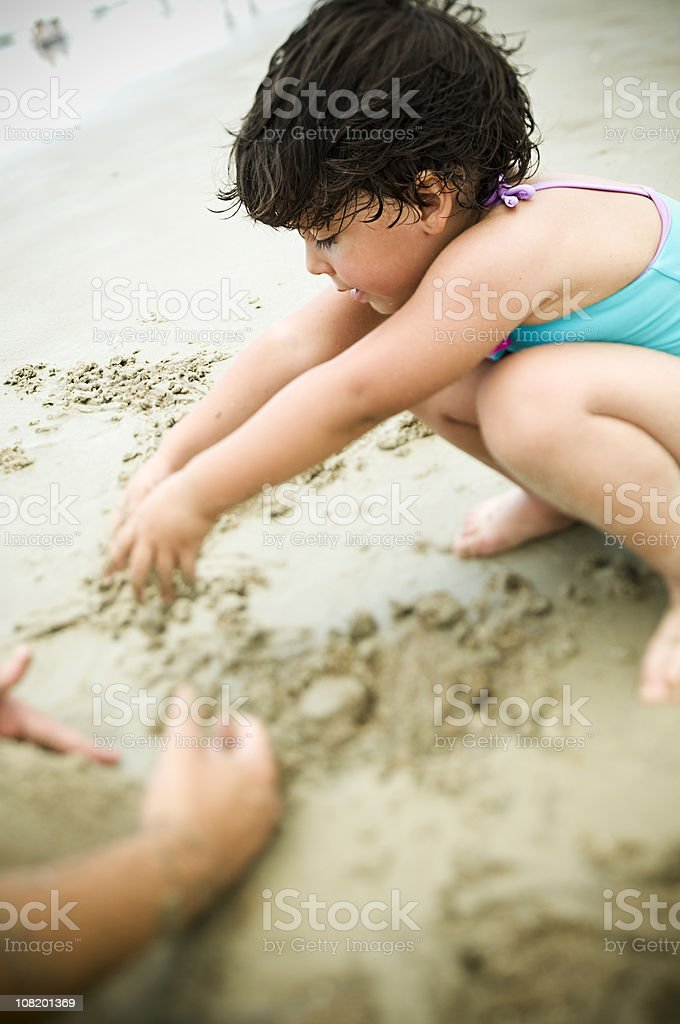 building a road in the sand royalty-free stock photo
