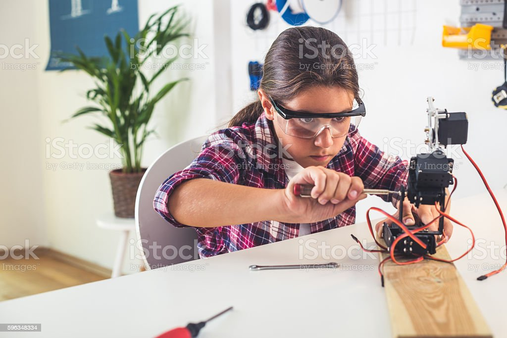 Building a robotic arm royalty-free stock photo