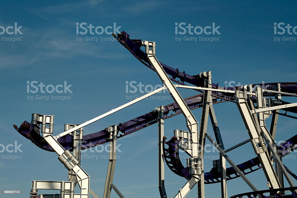 building a roller coaster royalty-free stock photo