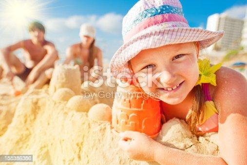 509423868 istock photo Building a sand castle 155386386