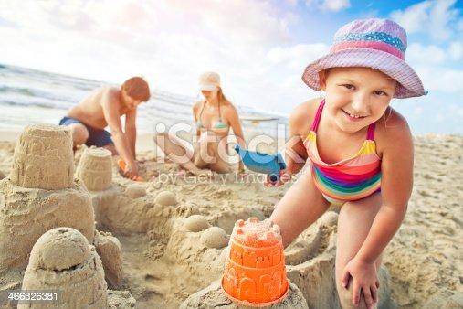 509423868 istock photo Building a sand castle 466326381