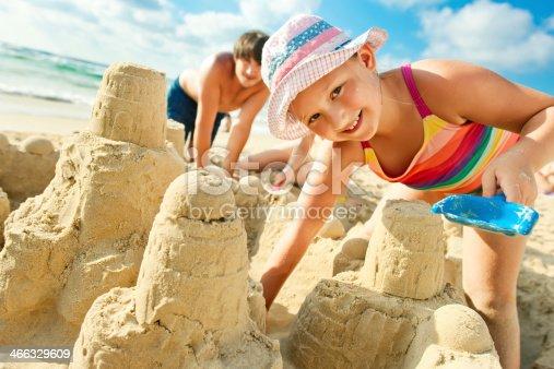 512726470 istock photo Building a sand castle 466329609