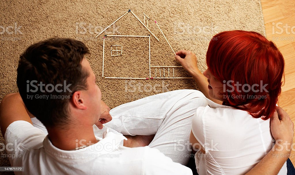 building a shelter royalty-free stock photo