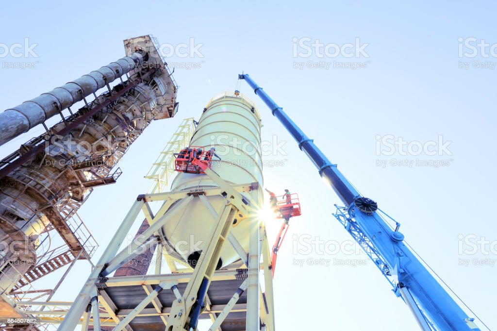 Building a silo stock photo