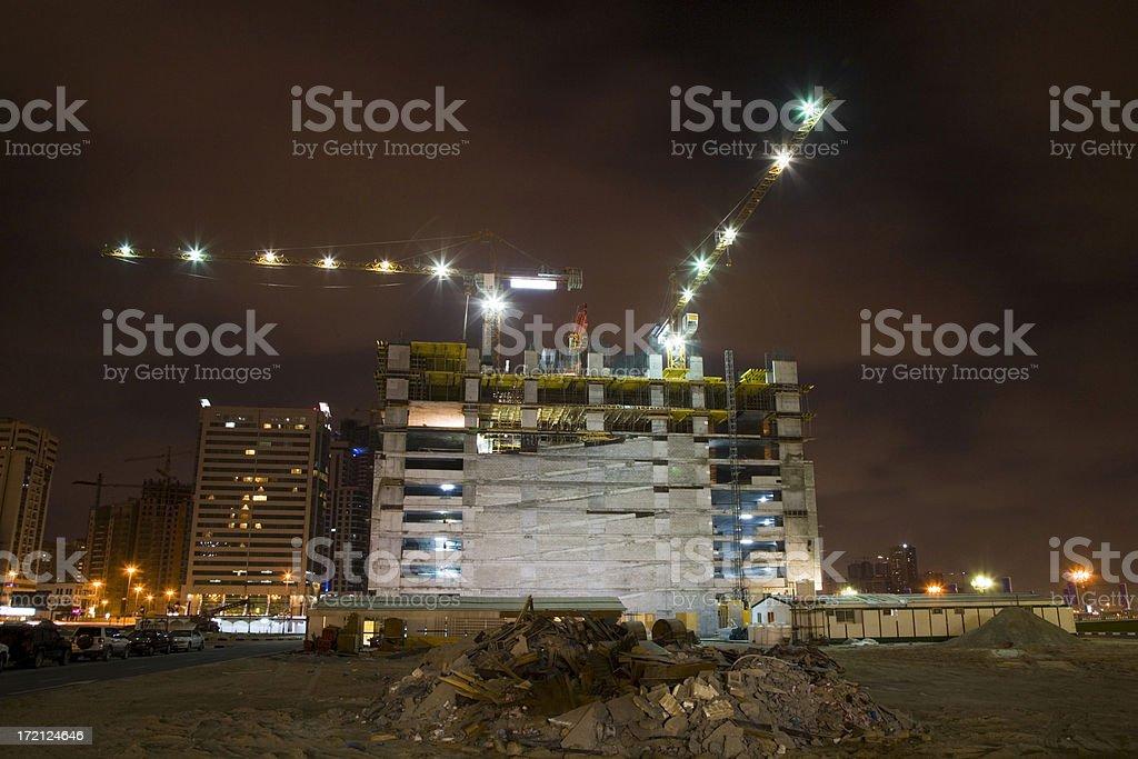 Building a Skyscraper Construction Site Dubai royalty-free stock photo