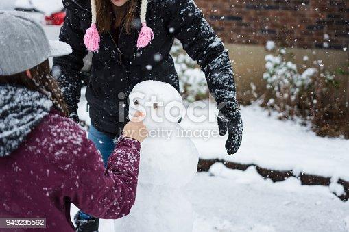 istock Building a snowman 943235562