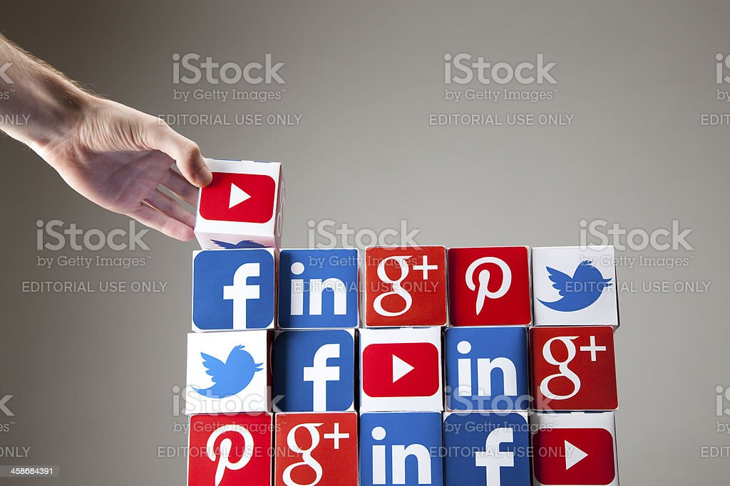 Building a social network royalty-free stock photo