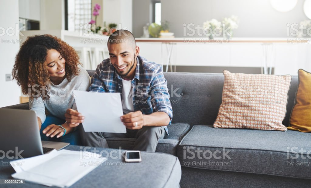 Building a tight household budget stock photo