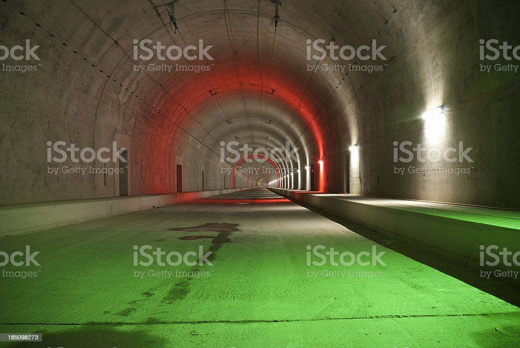 Building a tunnel royalty-free stock photo