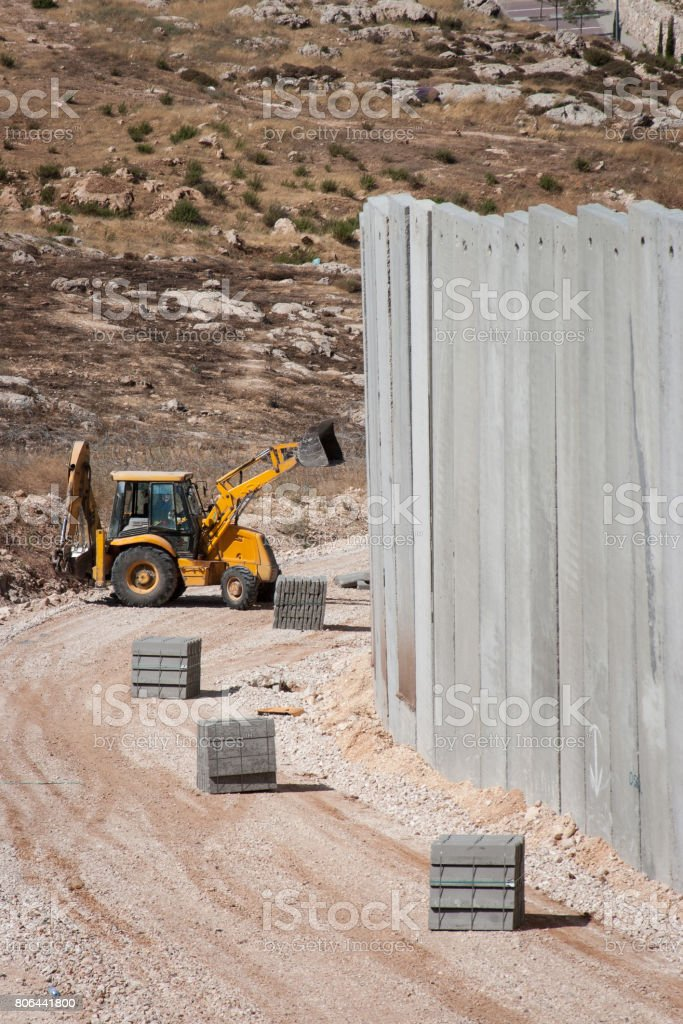Building a wall. stock photo