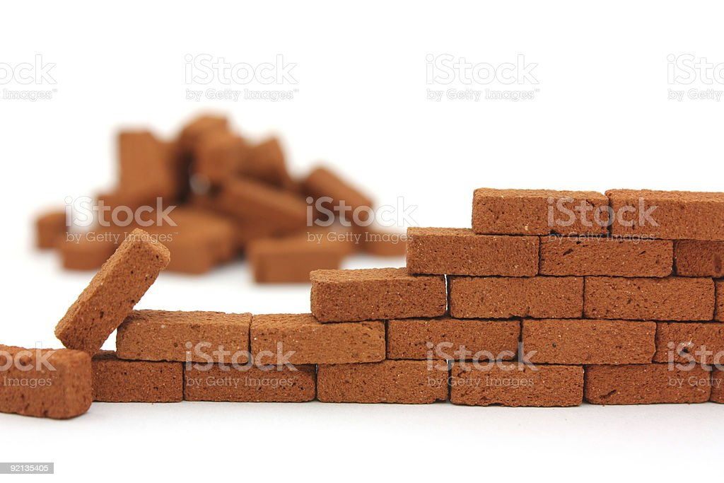 Building a wall stock photo