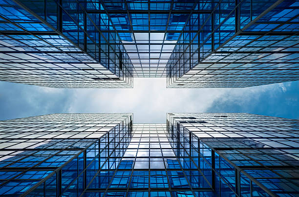 building abstract - symmetry stock photos and pictures