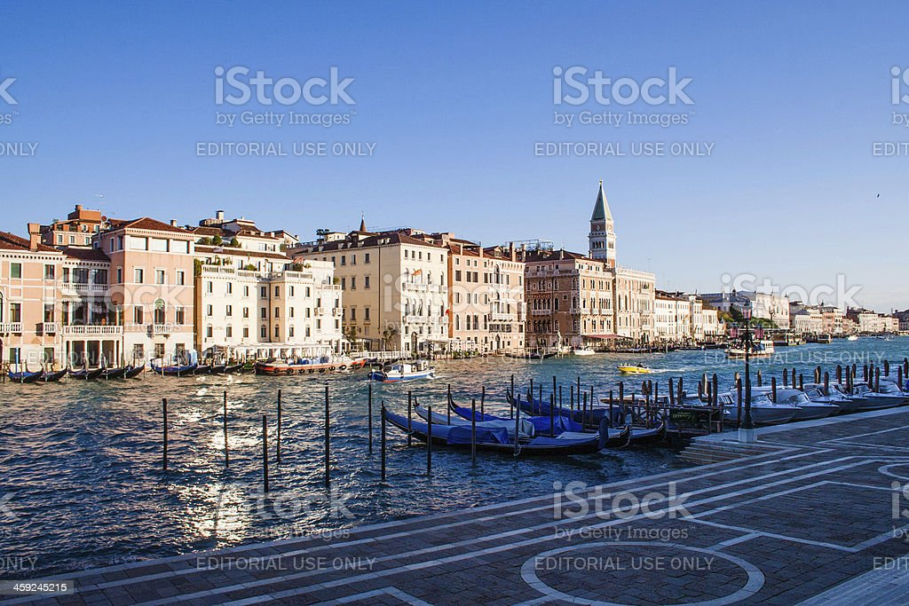 Building along the Canal Grande in Venice, Italy royalty-free stock photo