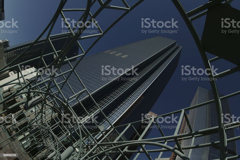 Building amid steel royalty-free stock photo