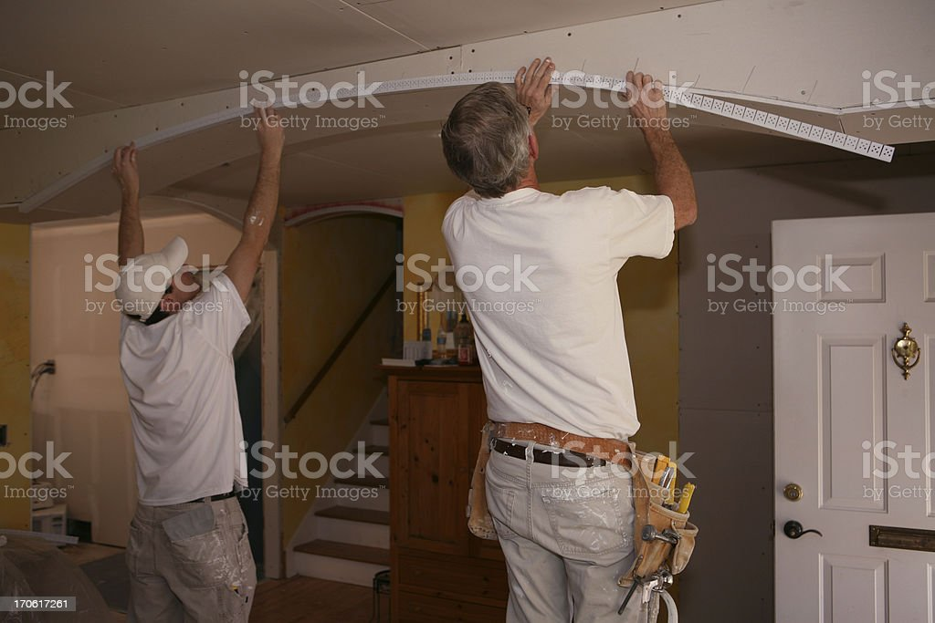 Building an Arch royalty-free stock photo