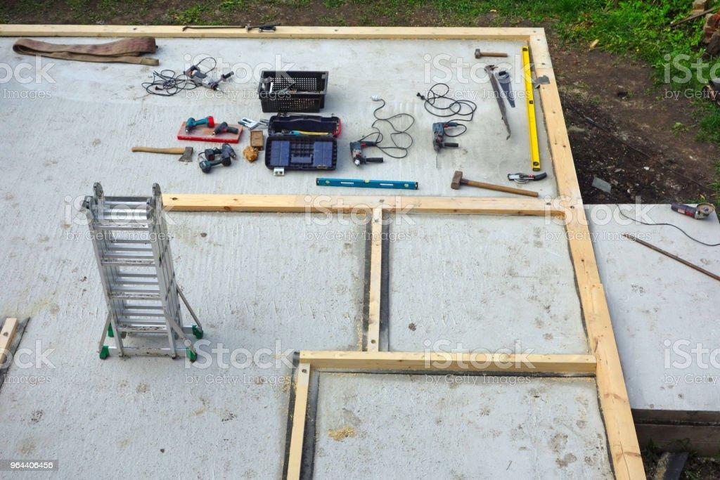 De bouw van een individuele huis 1 - Royalty-free Beton Stockfoto