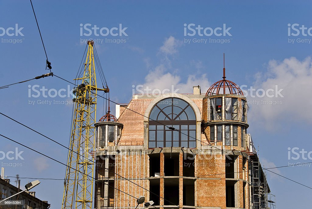 Building and crane. royalty-free stock photo