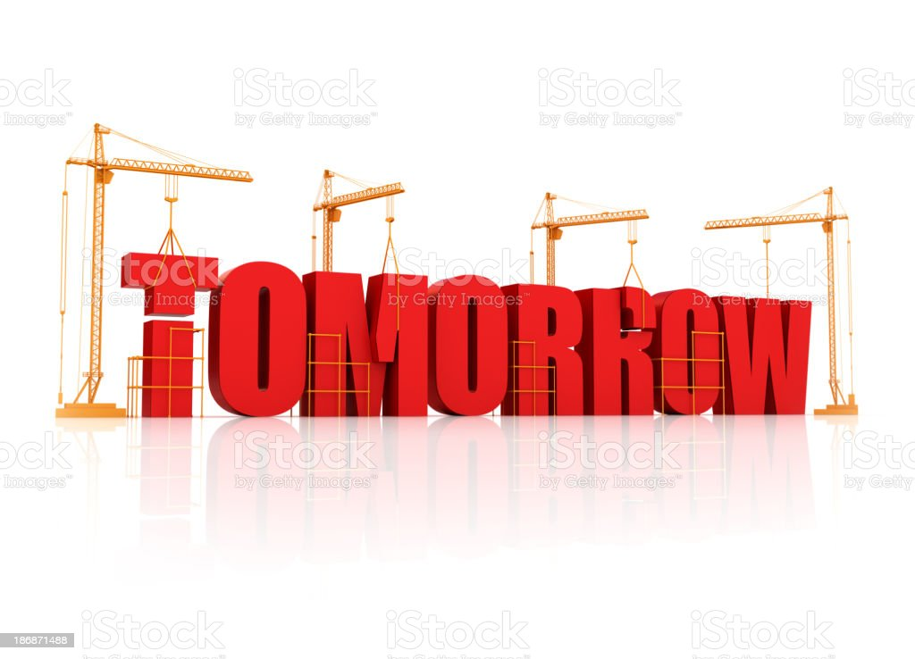building and planning for tomorrow royalty-free stock photo