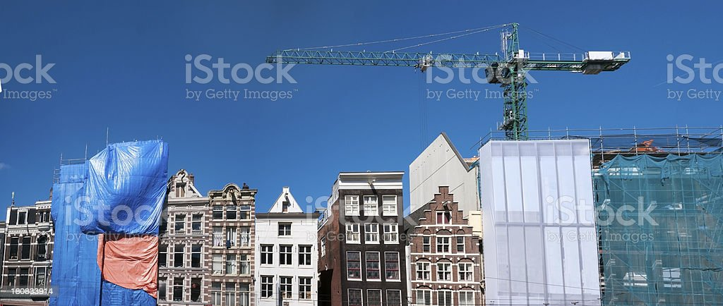 Building and Renovating Rokin Amsterdam royalty-free stock photo