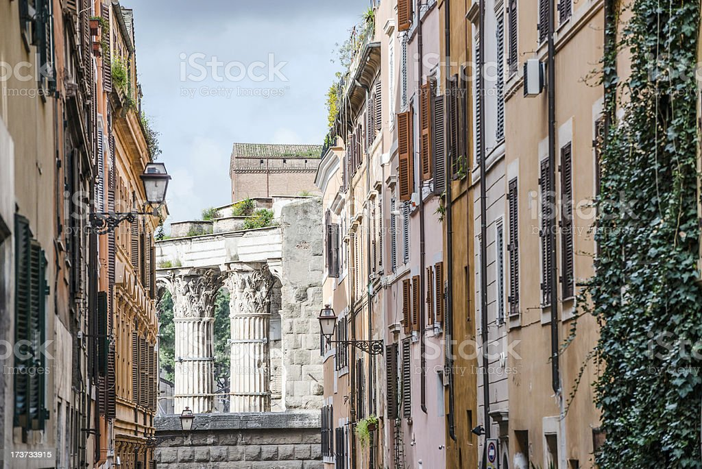Building and ruins in Rome royalty-free stock photo