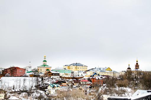 Building architecture landscape in Vladimir Russia
