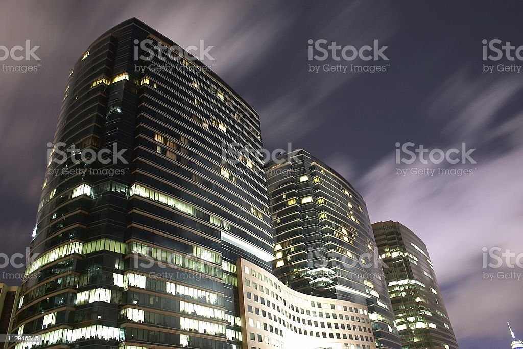 Building at the night scene royalty-free stock photo