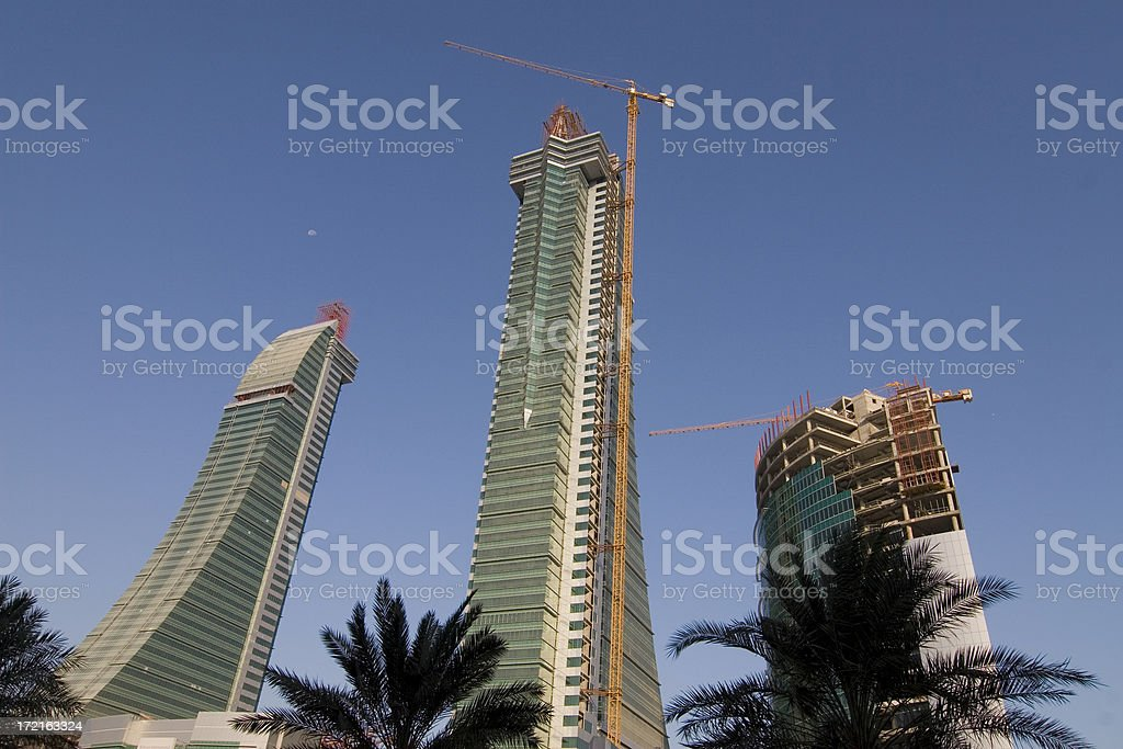 Building Bahrain Financial harbour royalty-free stock photo