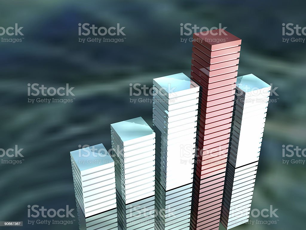 Building Bar Graph 2 royalty-free stock photo