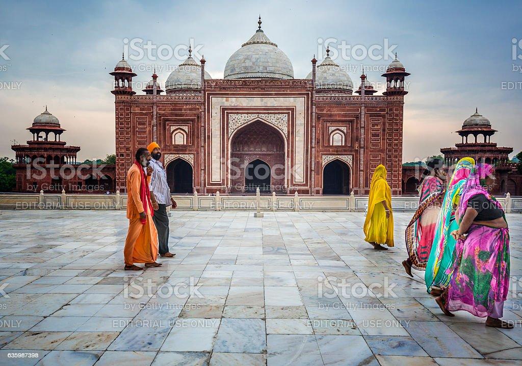 Building beside the main tomb Taj Mahal Agra India stock photo
