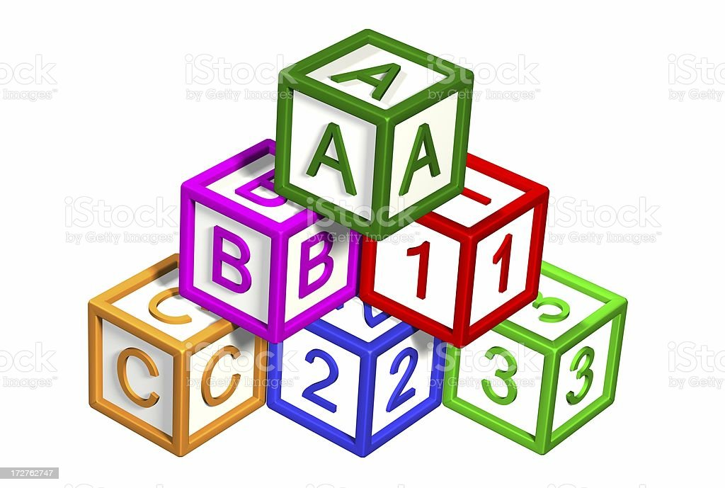 Building Blocks - ABC AND 123 royalty-free stock photo