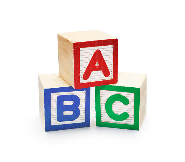 building blocks abc - alphabetical order stock pictures, royalty-free photos & images