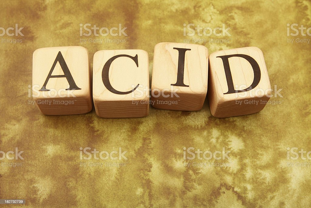 Building Blocks - Acid stock photo