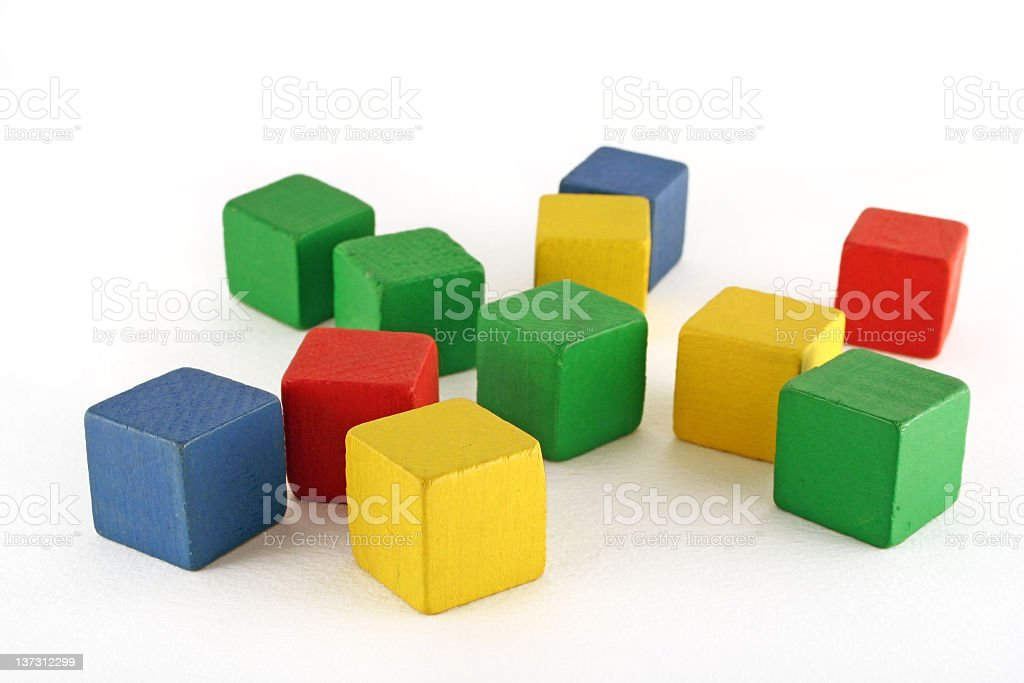 Building blocks made up of cubes in various colors  royalty-free stock photo