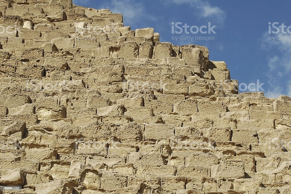 Building Blocks of the Giza Pyramids stock photo