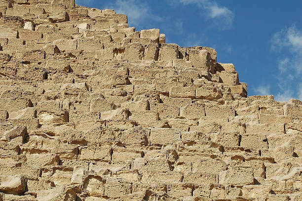 Building Blocks of the Giza Pyramids stock photo