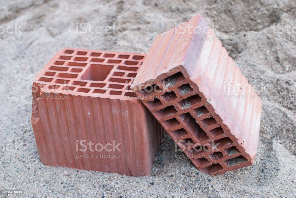 Building blocks on the ground stock photo