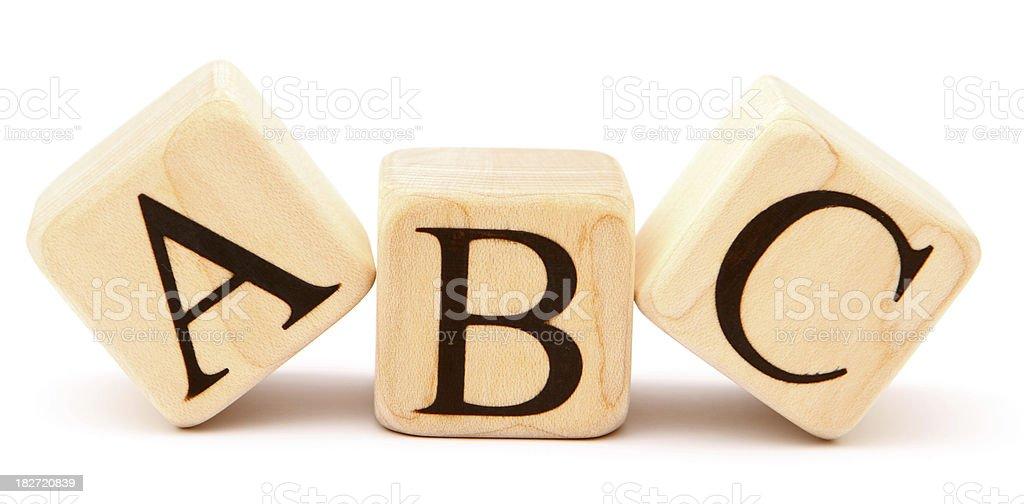ABC - Building Blocks royalty-free stock photo